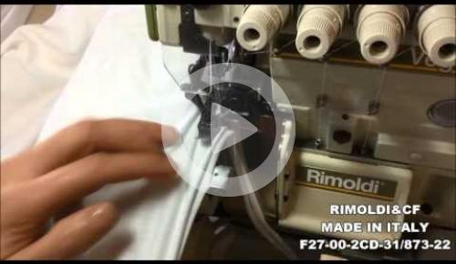 Embedded thumbnail for F27-00-2CD-31/87322 OVERLOCK MACHINE FOR ASSEMBLY SEAMING UNDERWEAR AND OUTWEAR GARMENTS