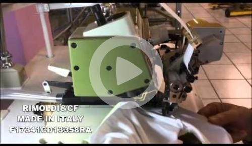Embedded thumbnail for F17-34-1CD-13/358RA OVERLOCK MACHINE FOR ATTACHING ELASTICS FROM ROLLS TO TUBOLAR GARMENTS CPT 358-RA DEVICE