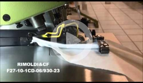 Embedded thumbnail for F27-10-1CD-06/93023 OVERLOCK MACHINE FOR BLIND STITCH WELTING ON KNIT UNDERWEAR AND OUTWEAR